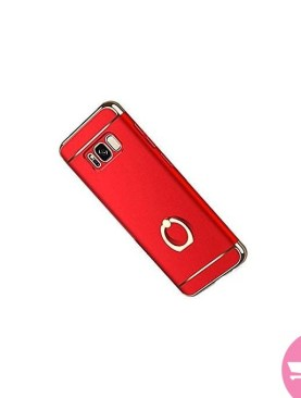Giyer 3 in 1 Ultra-Thin Hard PC Cover with 360 Ring Stand Holder for Samsung Galaxy S8 - Red