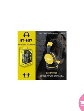 BT-6127 Over-ear Extra Bass Bluetooth Headphone Support Micro SD Card Play / FM Radio / Audio Input / Hands -free Phone Call - Black