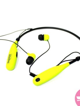 Faster S12 Neck Chain Wireless Bluetooth Sports Earphones - yellow
