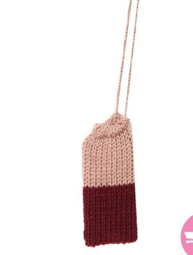 Phone Bags With Strings - Beize And Maroon