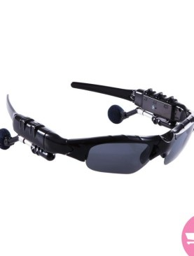 Wireless Flip-up Bluetooth Sunglasses Headset - Black