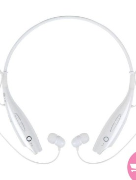 Wireless Bluetooth Universal Headset with Neckband - White