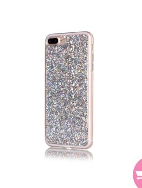 Hiamok Hot Silicone+PC High Quality Flash Soft Case Cover Skin For iPhone 7 Plus 5.5 Inch - Silver