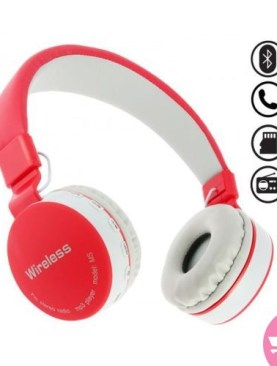 Original MS-881A Bluetooth Wireless Fully Dolby Headphones for PC and all Smartphones - Red,Grey.