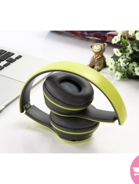 ST3 Wireless Stereo Headset with Microphone Hands-Free, Folding Design & Rechargeable Headphones (4.1+EDR) - Green