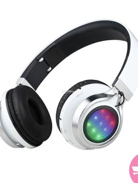 Generic TM021 Wireless Bluetooth Boom Bass Stereo LED Headset - White,Black