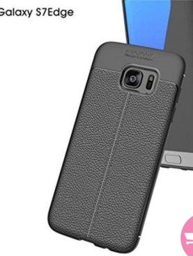 Auto focus soft flexible back cover for Galaxy S7 edge - Black