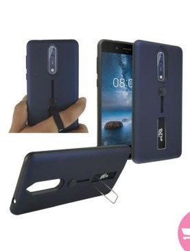 New Genuine Shock Proof Stand Phone Case Cover For Nokia 6 - Black