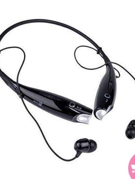 Original HBS-730 Universal Wireless Neckband Bluetooth Headset - Black