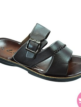Men's flat clark's open shoes-black