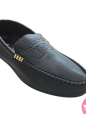 Men's off shore moccasin shoes- black
