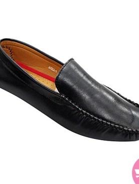 Men's leather mocassin shoes - black