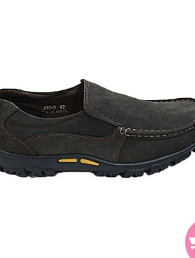 Men's pure leather mocassin shoes - black