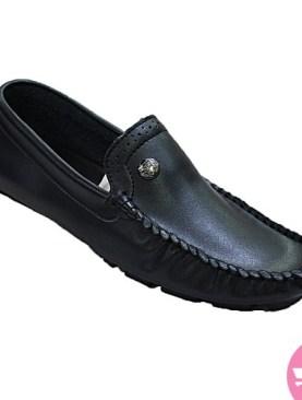 Men's slip on mocassin shoes -black