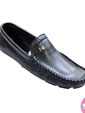 Men's stylish slip on mocasin shoes - black