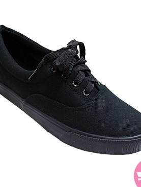 Men's stylish lace up sneaker shoes - black
