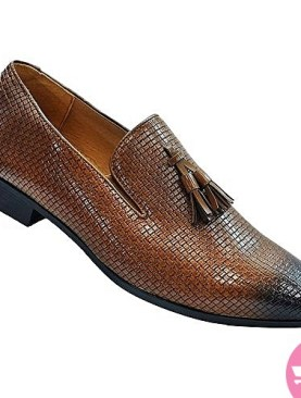 Men's gentle mat fashioned shoes - brown