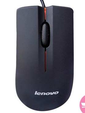 Lenovo M20 Wired Mouse- USB 2.0 Pro Gaming Mouse For Computer PC - Black