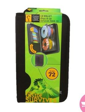 Portable Wallet Disc Cd Dvd Holder Capacity - 72 Capacity Cd Dvd