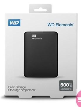 500GB External Hard Disk - Black