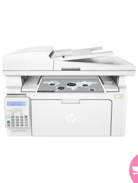 HP LaserJet Printer Pro MFP M130fn 4 in 1 Multi-Fuctional Machine (Printer,Scanner,Photocopier And Fax) Plus A Free USB Printer Cable - White
