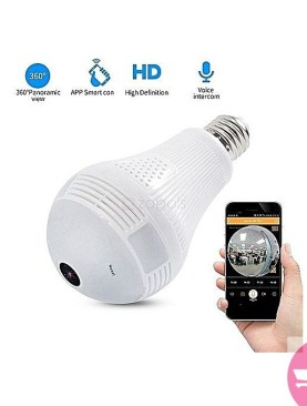 CCTV Bulb Wi-Fi Panaromic 360 Camera - White