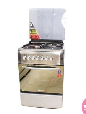 Blueflame Electric Cooker (3+1) /Oven/Fan/Rotisserie/Timer 60x60cm - S6031FER - Stainless