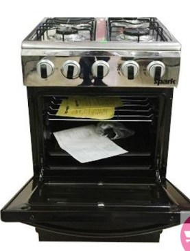 Spark 50*50 3 Gas Burners +1 Electric Hot Plate P5031E-B - Black