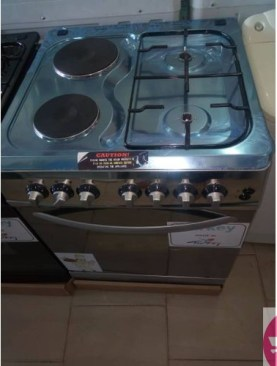 Besto Superchef 2 Electric, 2 Gas Cooker - Grey