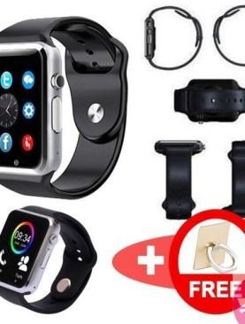 A-Scheries Bluetooth Touch Screen Phone Smart Watch / Wristband smartwat - Silver and Black