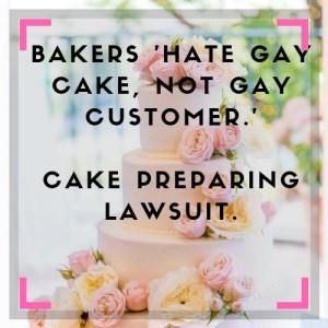 Gay cake sues bakery