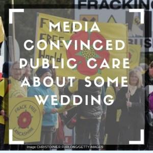 Lancashire anti fracking demonstration