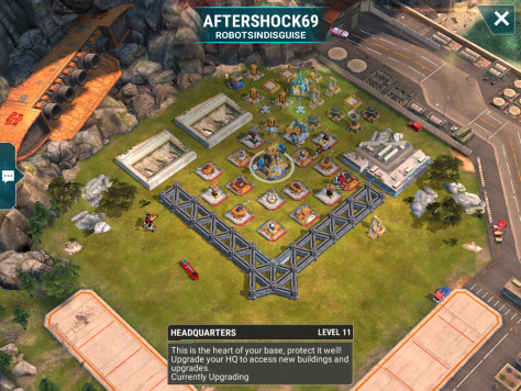 A real level 11 base. However, given that we are starting to get used to level 12-14 bases, this should be a cake walk. Bombing spots are at the mortar and beam or on the other side at the mortar and launcher. Make him hurt.