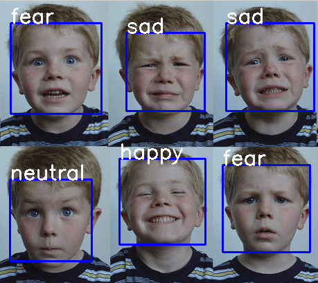 Real Time Facial Expression Recognition on Streaming Data