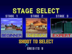 Ecran choix du stage