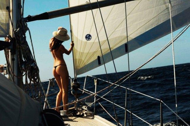 Schöne Aussichten. Taru genießt die ersten Tage auf dem Atlantik. © sailingaroundtheglobe