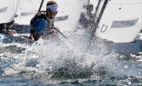 Opti in action: rund 150 Segler gehen in dieser Bootsklasse am Wochenende an den Start © segel-bilder.de