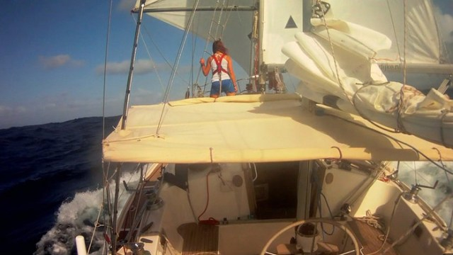 Laura Dekker (16) bezwingt einhand den Indischen Ozean. © Dekker