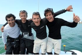 Junges Team rund um Steuermann Daniel Schmäh, 2 v. l. © Patrick Gilliéron Lopreno / Hydros