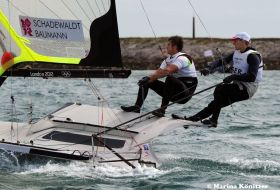 Schadewaldt/Baumann kamen vor Weymouth nicht in Fahrt, wie erhofft. © Marina Könitzer