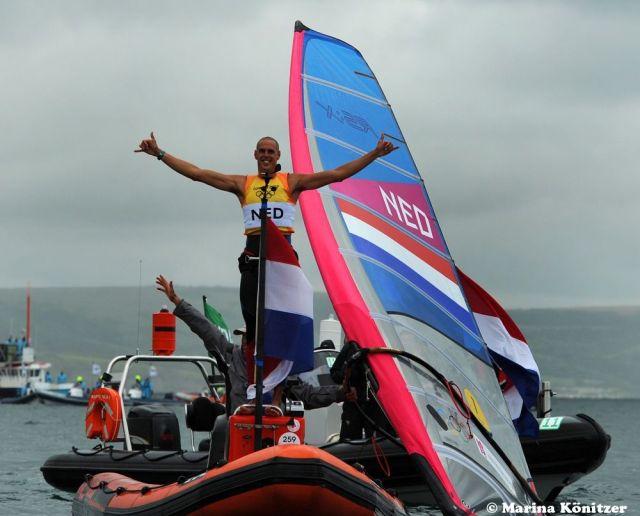 Der Überflieger aus Holland. Gold zwei Rennen vor Schluss. Er ist verplichtet, am Medalrace teilzunehmen und gewann es auch standesgemäß.  © Marina Könitzer