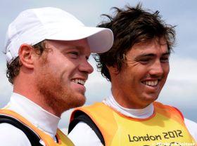 Nathan Outteridge und Iain Jensen, die überlegenen Olympiasieger im 49er. © Marina Könitzer