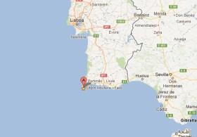 """Vom Sao Cabo Vincente geht es dann """"nur"""" noch stramm gen Norden © Kartedaten 2012 Google"""