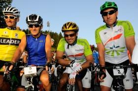 Raser unter sich: Leader der Hte.Route, Alain Proust, Franck Cammas mit Teamkollege Jean-Marie©miku