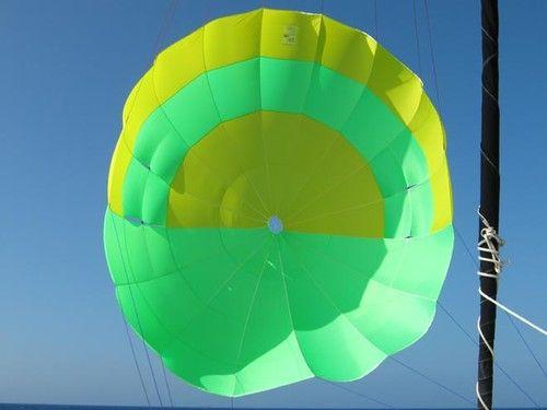 Fallschirm einmal anders. Vortrieb statt Bremskraft. © Sailchute