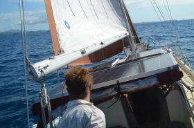 """""""Marianne"""" im Regatta-Trimm. © Sailing Conductors"""