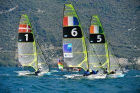 Nummern-Kennzeichung bei den Finalrennen mit acht Booten. © SEIKO 49er