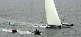 Trimaran Wakeboarding und Couchsurfing. © Rostock Sailing