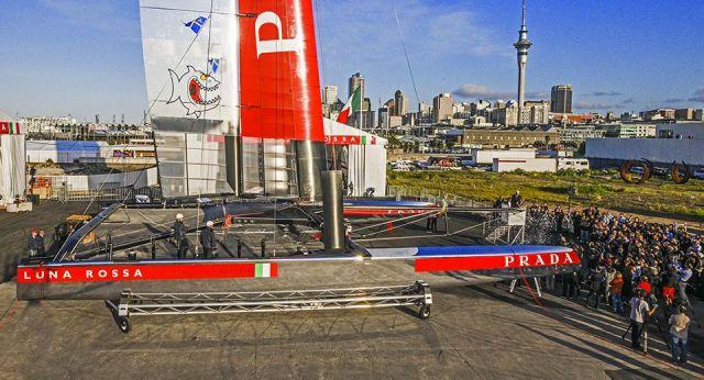 Feierstunde in Auckland. © Luna Rossa/Carlo Borlenghi