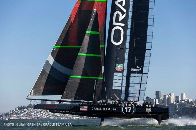 Oracle Flugshow vor San Francisco. © Guilain Grenier / Oracle Team USA